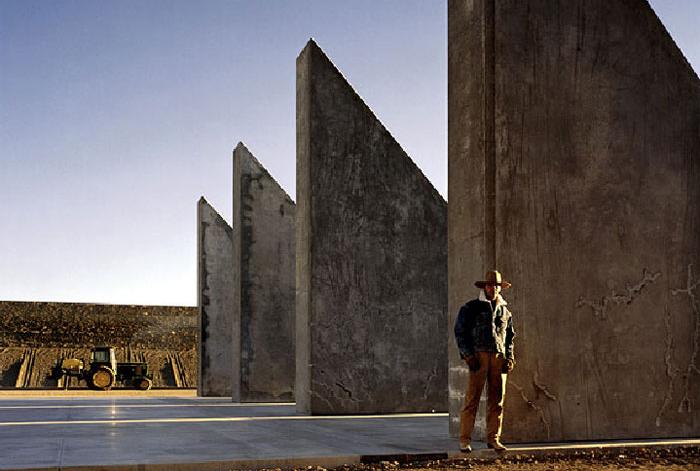 Michael Heizer's, city