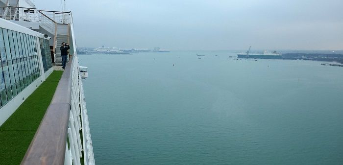 Southampton docks from cruise ship