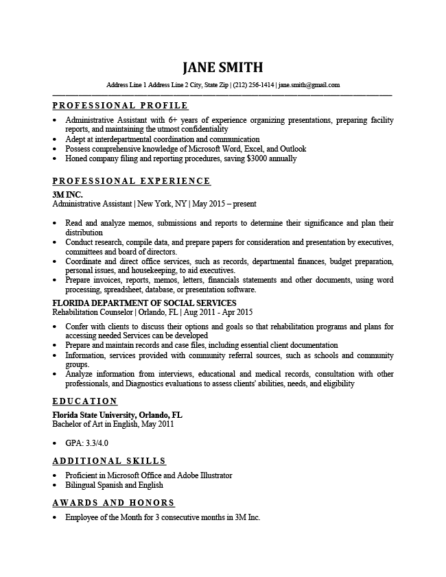 basic and simple resume templates  with images