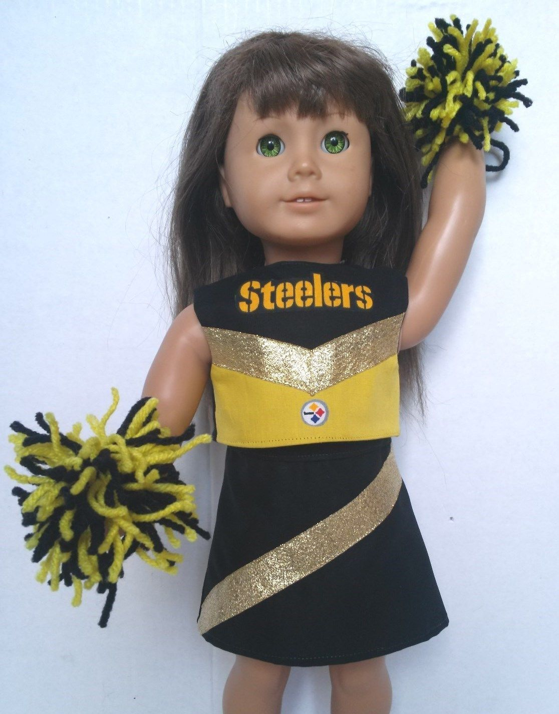 """Doll Clothes fits Wellie Wishers or 14.5/"""" Mississippi State Cheerleader Outfit"""