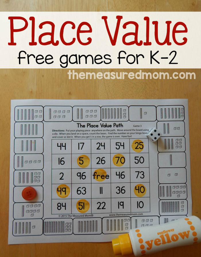 Free Place Value Games For K 2 First Grade Pinterest Math