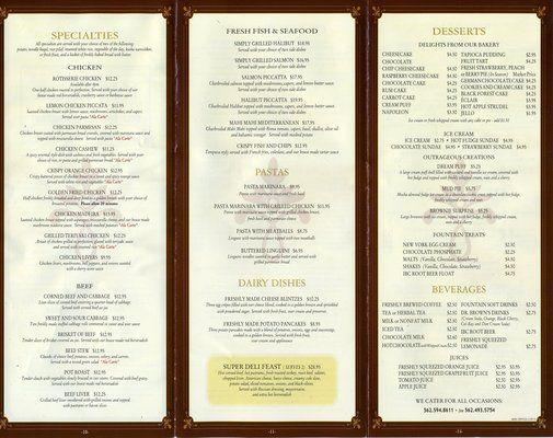 Katella Deli Restaurant Menu