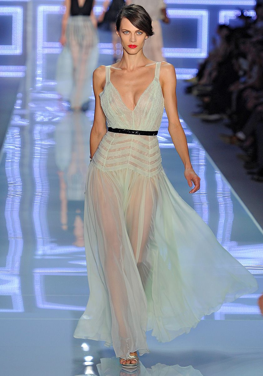 Christian Dior Spring 2012 RTW - where I stole the pattern for my chevron maxi skirt from.