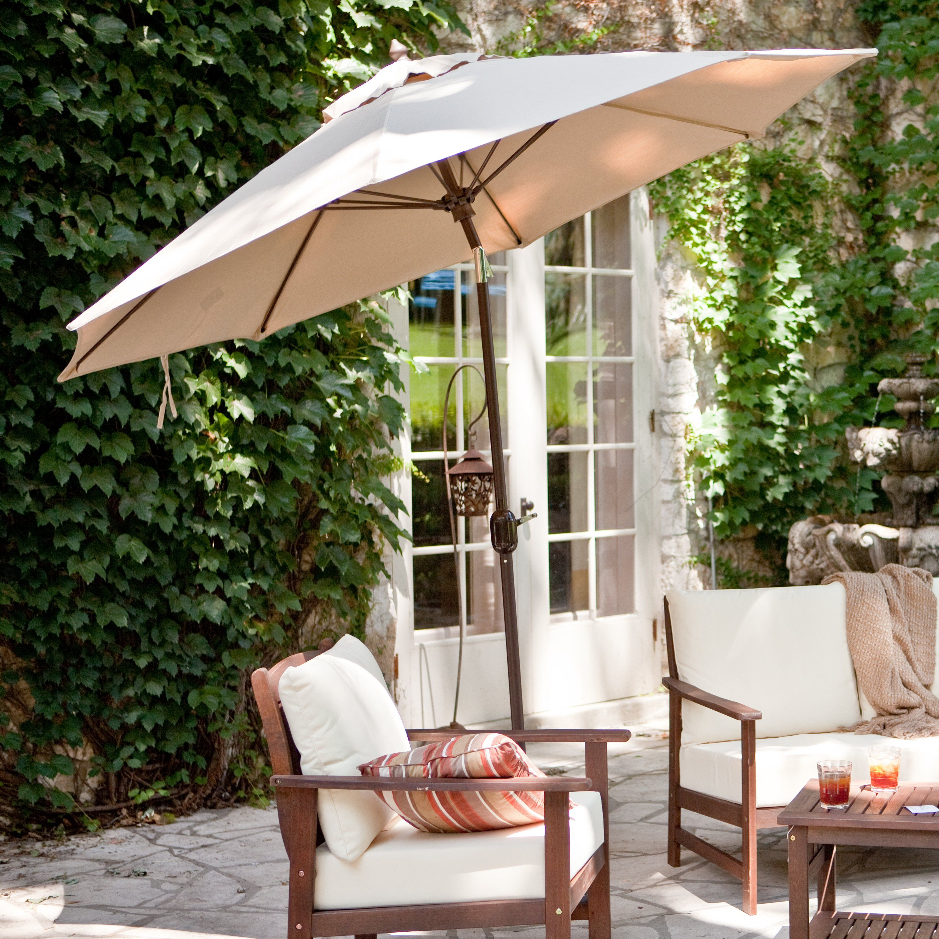 Sunbrella Deluxe Tilt Aluminum Patio Umbrella $219.98