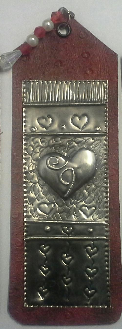 """""""One of a kind"""" Bookmark with  Handcrafted Pewter Art by Hanli 