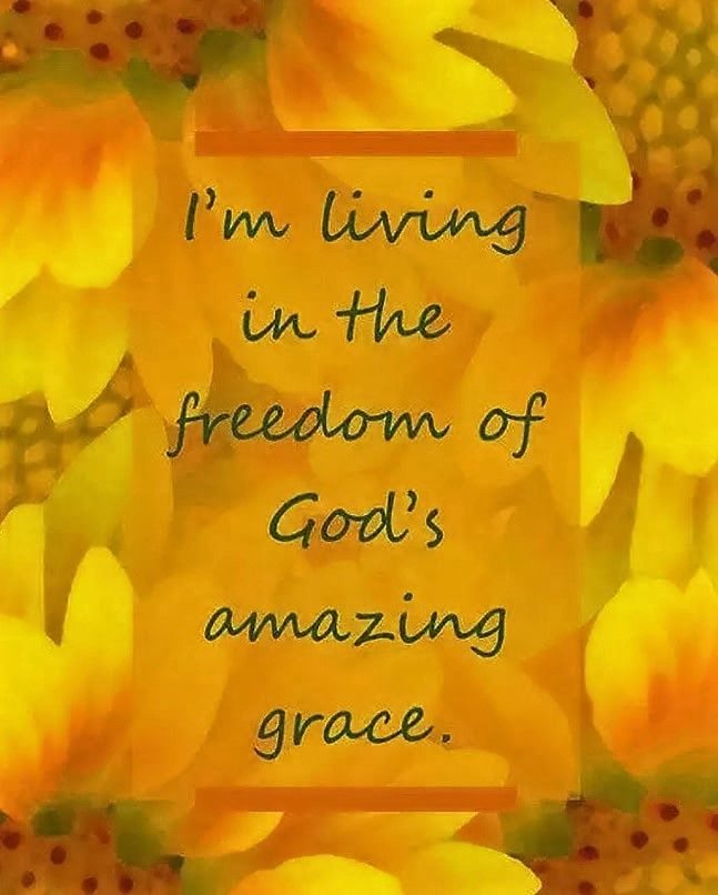 Living under the grace of god