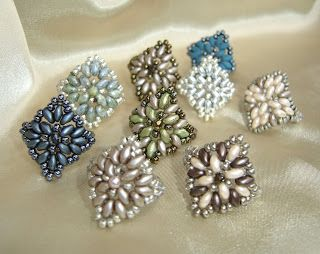 Superduo beaded rings