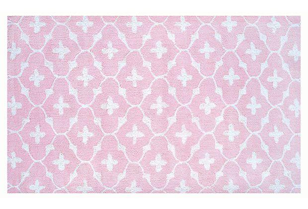 Coco Rug, Pink/White on OneKingsLane.com