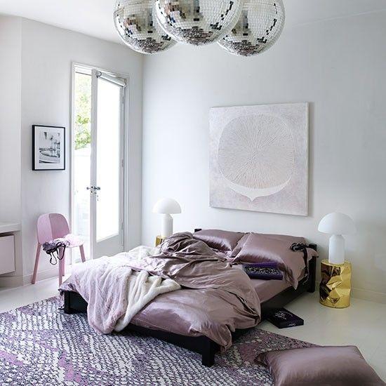 Dusty Pink Modern Bedroom Bedroom Decorating Livingetc - Disco lights for bedroom