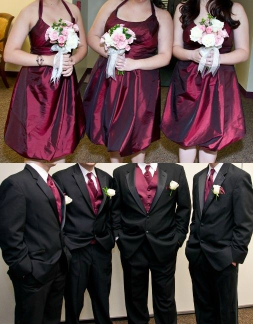 Burgundy Wedding Gold And Burgundy Wedding Burgundy Wedding Yellow Bridesmaid Dresses