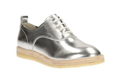 Womens Originals Shoes - Empress Lo in Silver Leather from Clarks shoes