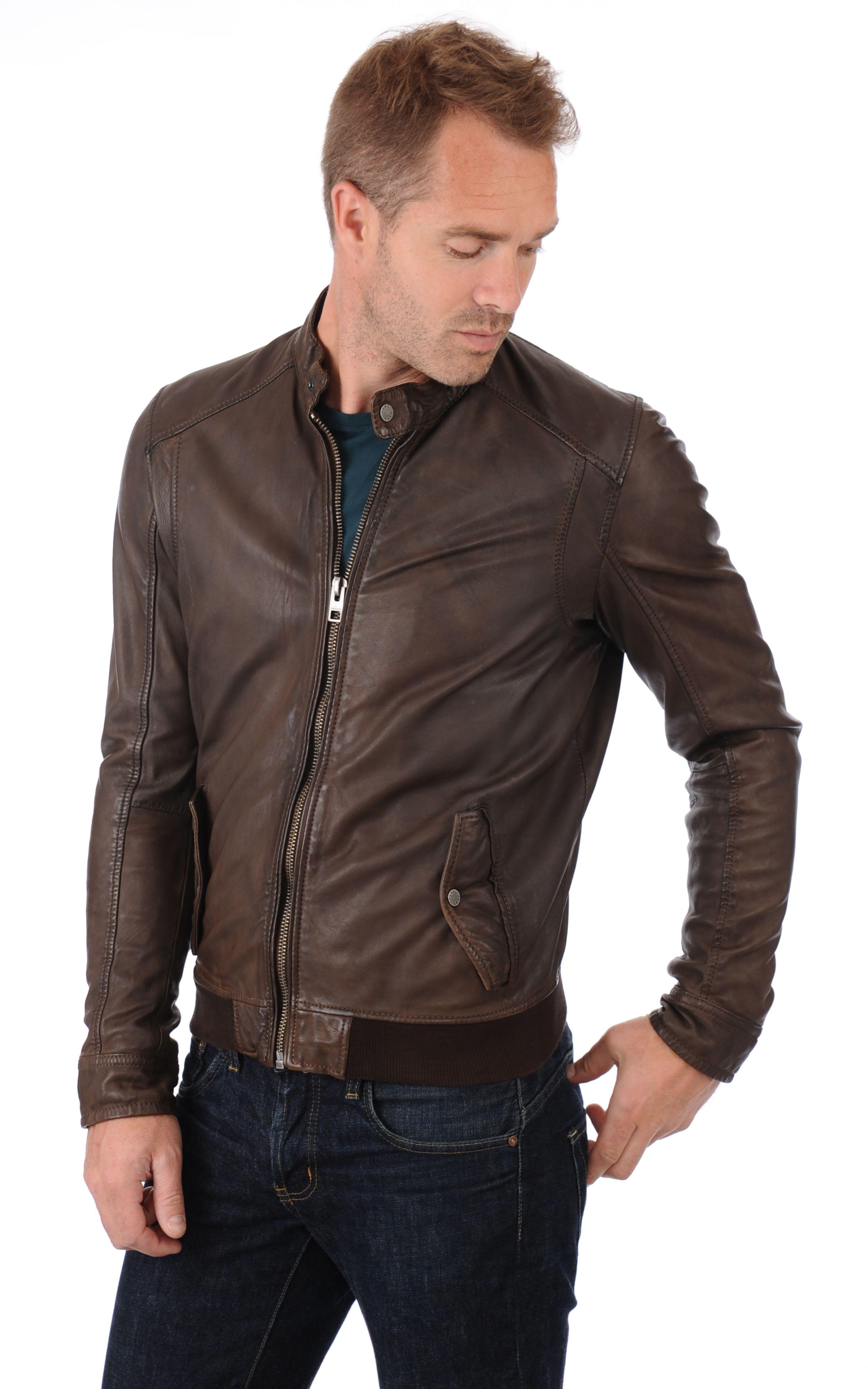 020dd114560d Blouson Cuir Marron Homme Oakwood   Leather   Jeans   Pinterest ...
