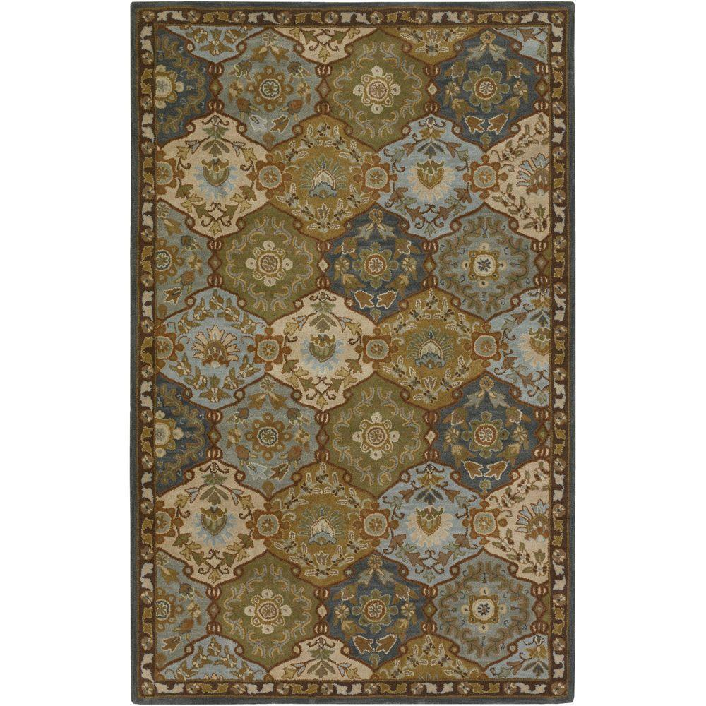 Artistic Weavers John Blue 4 Ft X 6 Ft Area Rug Jhn1032 46 The Home Depot Wool Area Rugs Blue Wool Rugs Area Rugs