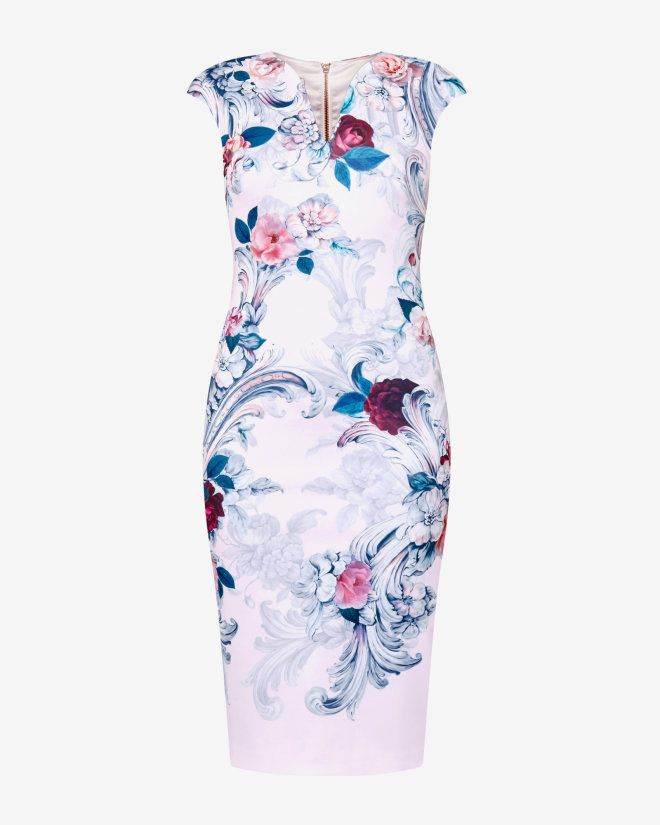 f0f429558473 Acanthus Scroll print midi dress - Light Pink