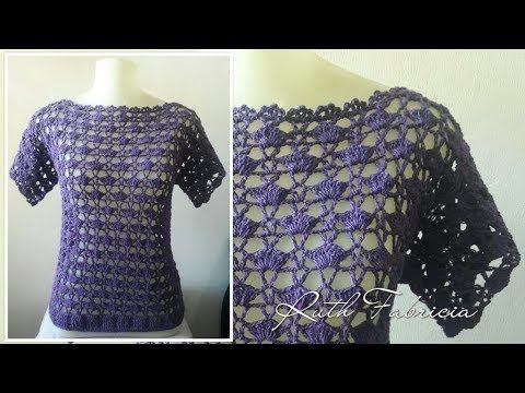 bfafe363b9 So beautiful!!!Blusa de Crochê - Ruth Fabricia - YouTube | roupas de ...