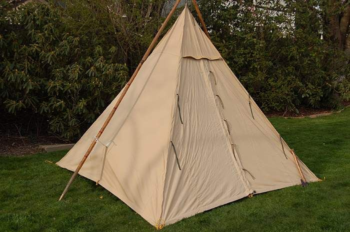 Cowboy teepee david ellis canvas products the bush for Canvas tent plans