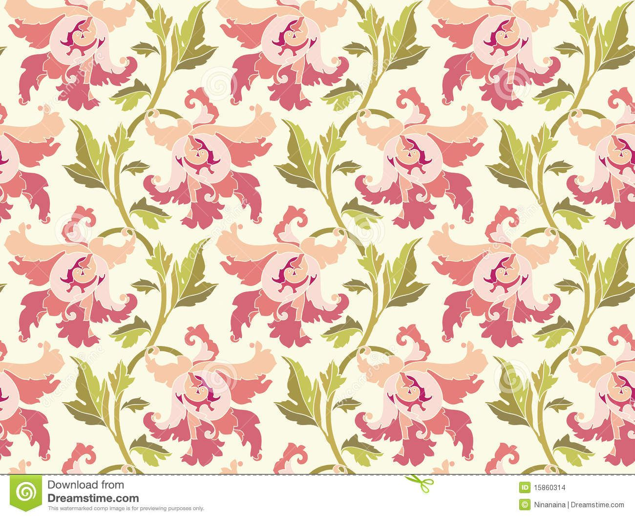 Modern Fl Wallpaper Designs Flower Pattern Vector Home