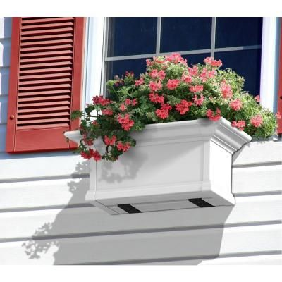 Mayne Yorkshire 12 In X 24 In Vinyl Window Box 4822w The Home Depot In 2020 Window Planter Boxes Yorkshire Window Box Window Box