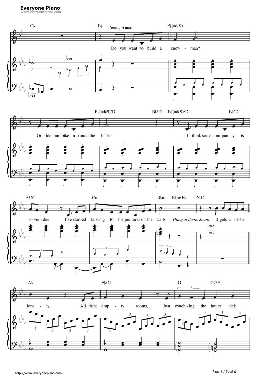 Free Do You Want to Build a Snowman-Frozen OST Piano Sheet ...