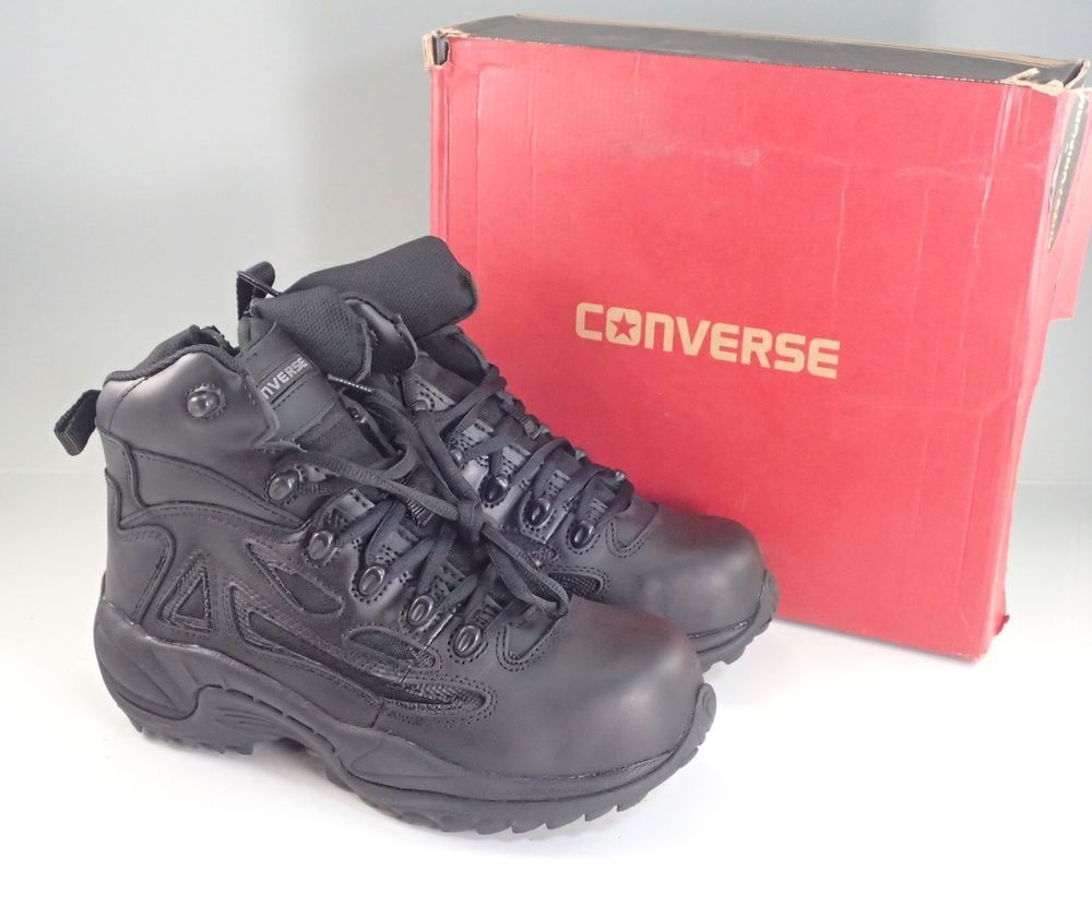 acb0b48083b424 Converse Men s Composite Safety Toe Tactical Duty FOOTFORCE Work Boots C8674   Converse  WorkSafety