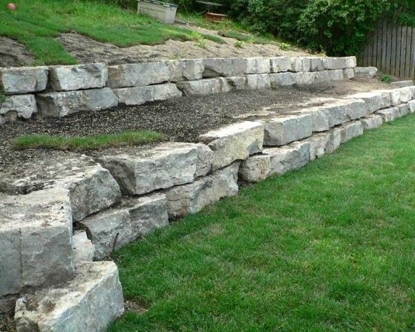 stone retaining wall design spacious