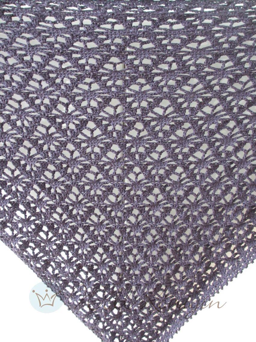 Muster Clementine gehäkelt Dreieckstuch   Woll-Königin   Pinterest ...