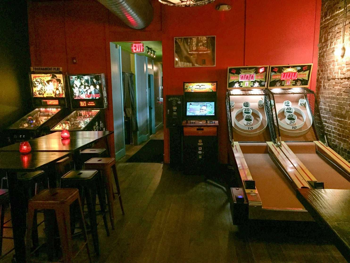 What Beats The Usual Happy Hour Bars With Skee Ball Arcade And Virtual Reality Games Arcade Bar Arcade Game Room Arcade Room