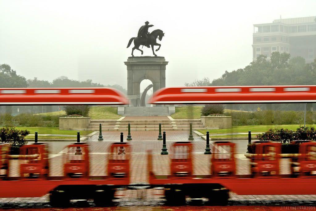 Sam Houston Statue and Zoo Train