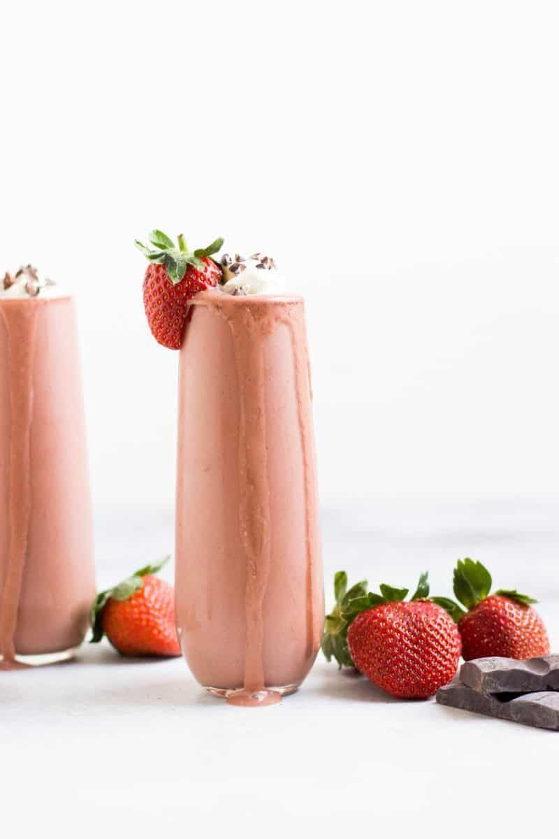 Chocolate Dipped Strawberry Smoothie #chocolatestrawberrysmoothie This Chocolate Strawberry Smoothie is a simple treat full of fresh berries and chocolate. The taste of chocolate dipped strawberries in a thick, creamy smoothie. Makes a great snack to pick up your day. #chocolatestrawberrysmoothie Chocolate Dipped Strawberry Smoothie #chocolatestrawberrysmoothie This Chocolate Strawberry Smoothie is a simple treat full of fresh berries and chocolate. The taste of chocolate dipped strawberries in #chocolatestrawberrysmoothie