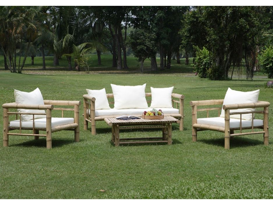 salon de jardin robinson en bambou canap 2 places 2. Black Bedroom Furniture Sets. Home Design Ideas