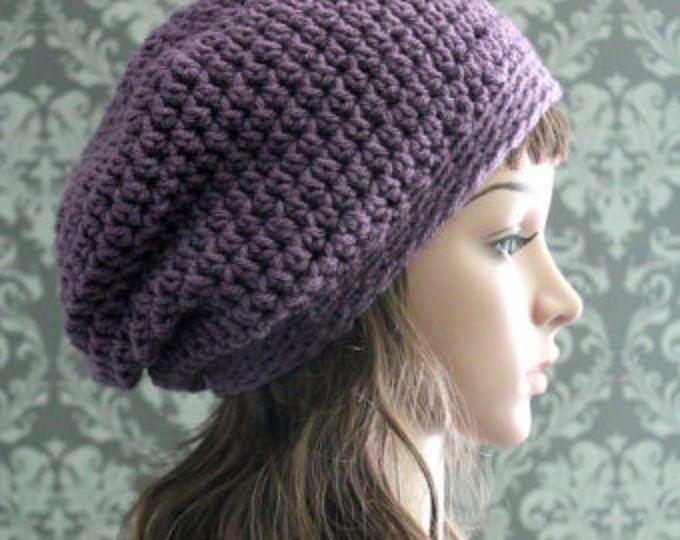59b9ac637 Crochet PATTERN - Crochet Pattern Hat - Slouchy Hat Pattern - Puff ...