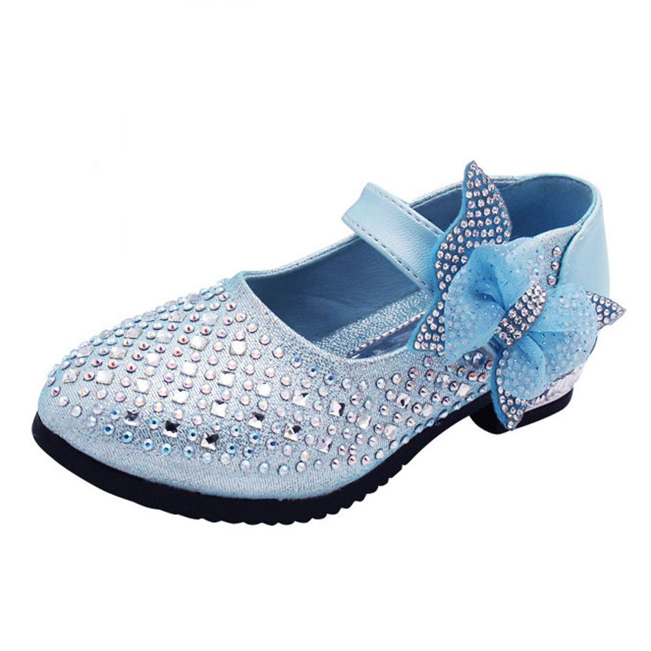 Girls wedding dress shoes  Click to Buy ucuc Kids Girls Crystal Dress Shoes Bling Flower Girls