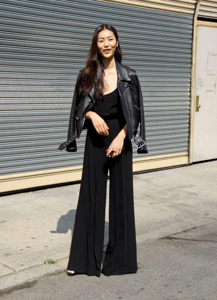 back to black. #LiuWen #offduty in NYC.