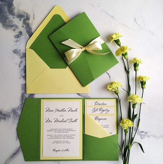 yellow green wedding invitations yellow green invites wedding