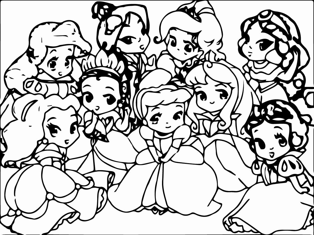 Cute Disney Characters Coloring Pages In 2020 Disney Princess