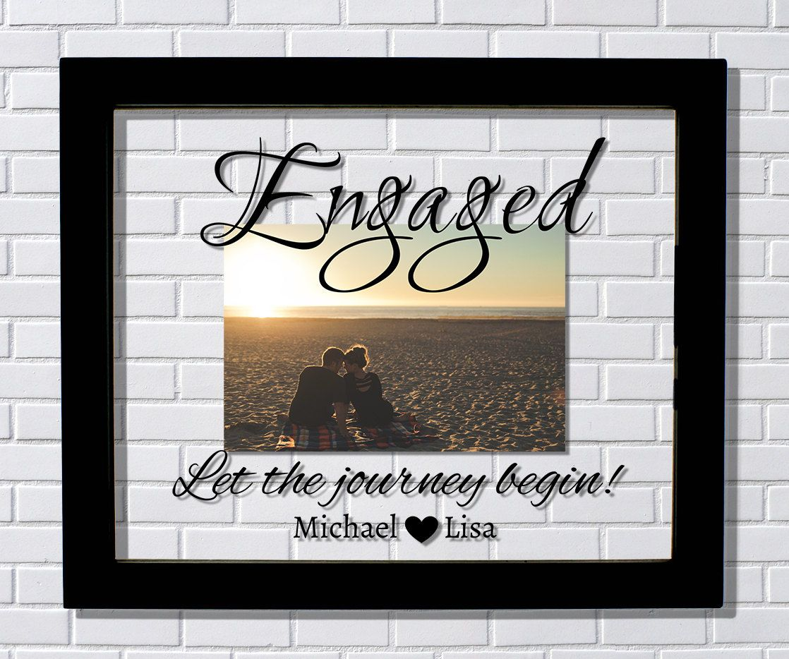 Engaged Frame - Floating Frame - Let the journey begin - Custom ...