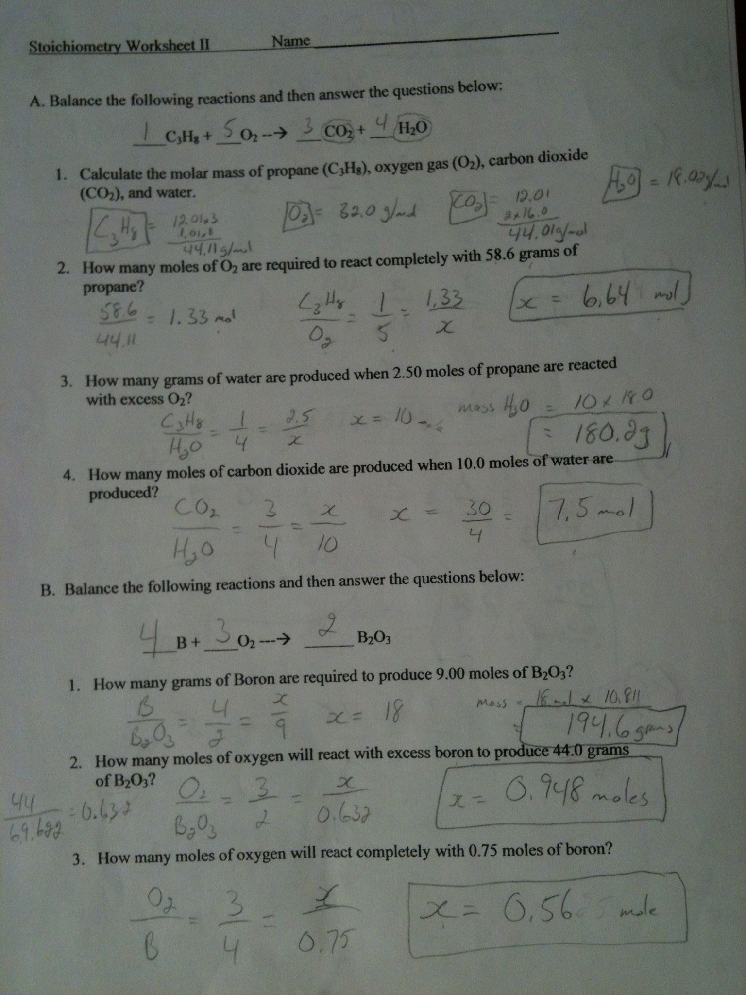 Gas Stoichiometry Worksheet Answers 9 Chemical Equations