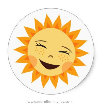Cute Laughing Sun Round Stickers With Images Cartoon Stickers