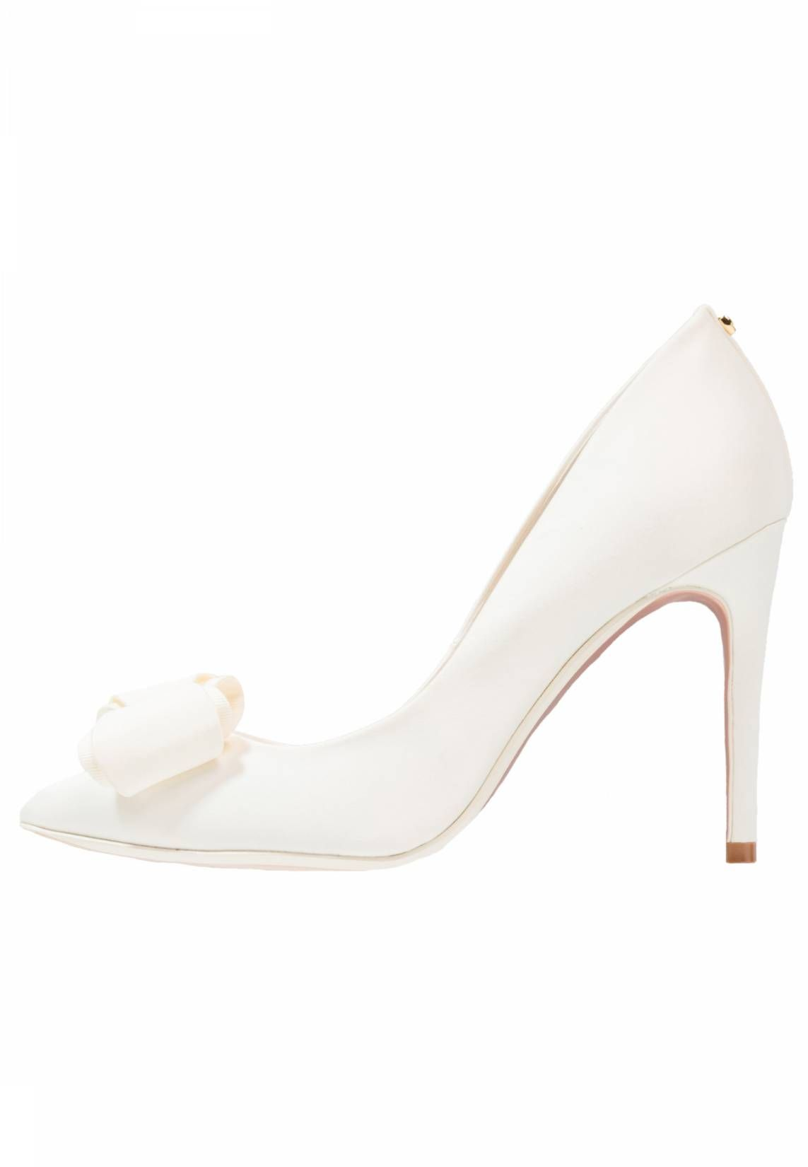 885b396cfe69c0 AZELINE - Classic heels - cream . upper material textile. detail bow. shoe  toecap pointed. shoe fastener slip on. Cover sole leather. Pattern plain.