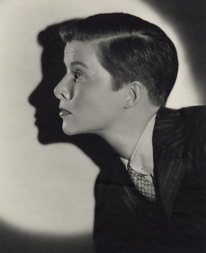 Katharine Hepburn in a promotional photo for & ldquo; The Sylvia ...