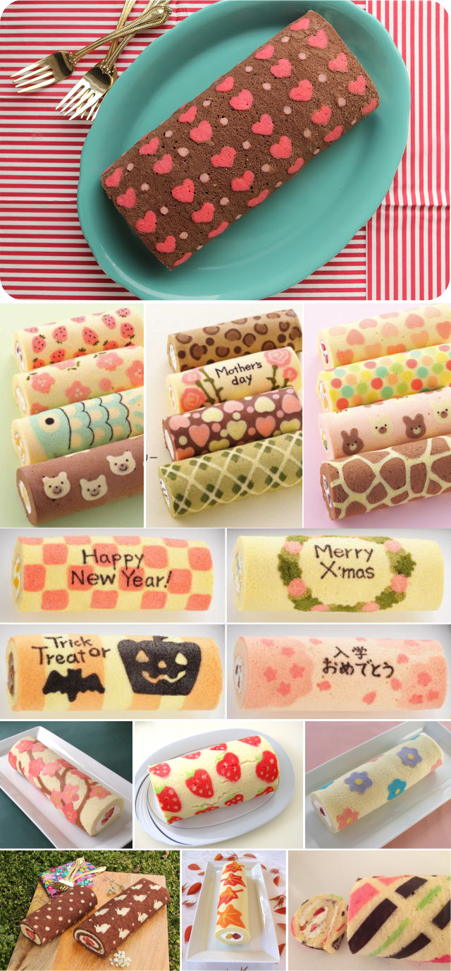 Diy Patterned Roll Cake Cake Design Easy Patisserie Gateau