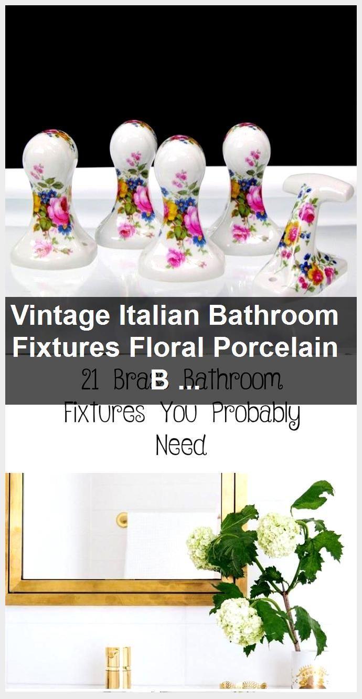 Photo of Vintage italienische Badezimmer Armaturen Blumen Porzellan Bad Badezimmer Hardware Robe H …