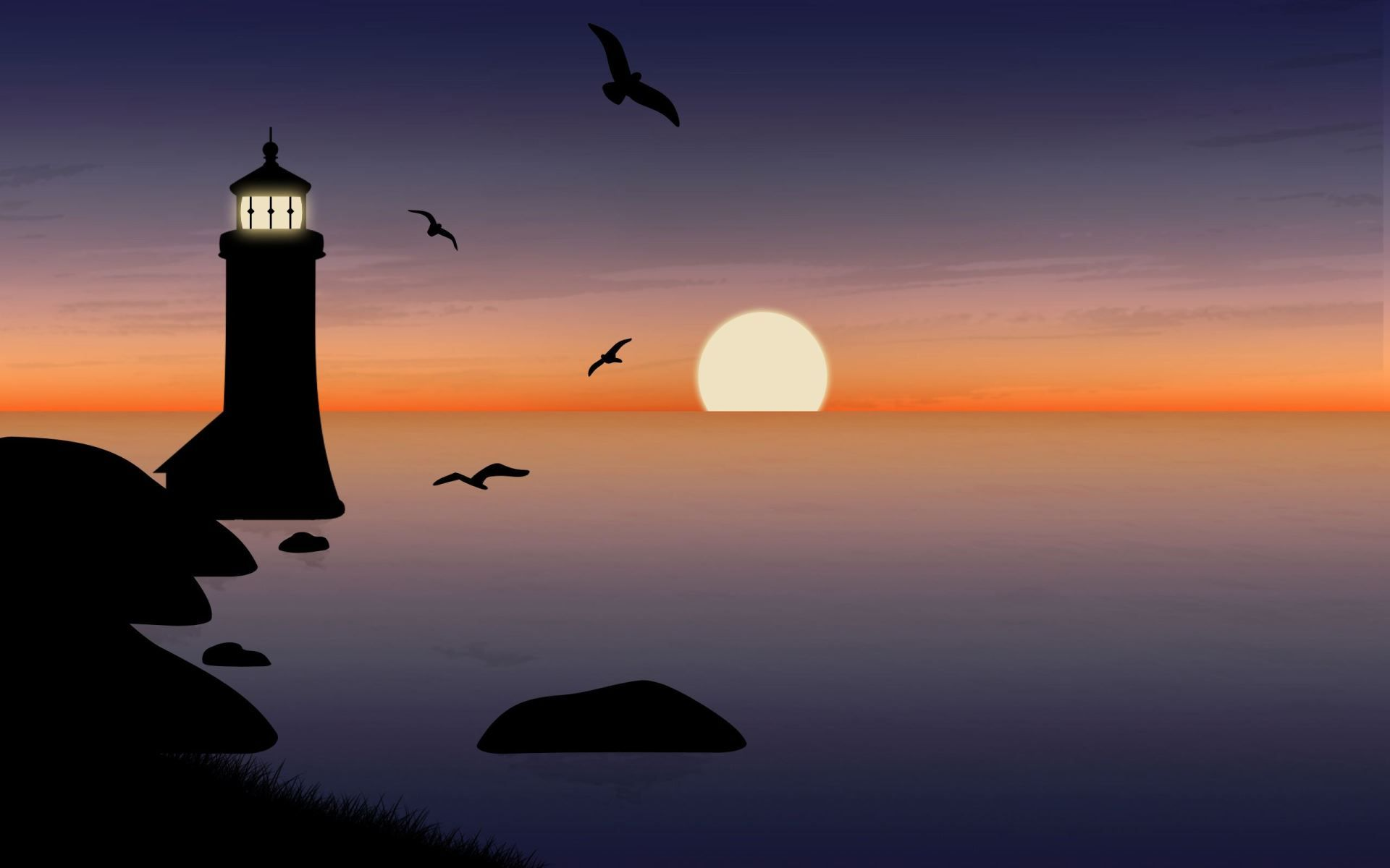 Lighthouse Background Lighthouse Background Screensaver Wallpaper Widescreen