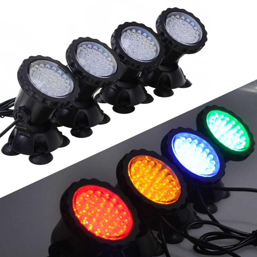 1 set with 4 lights 36 led 6w underwater submersible aquarium spot 1 set with 4 lights 36 led 6w underwater submersible aquarium spot light for fish tank parisarafo Images