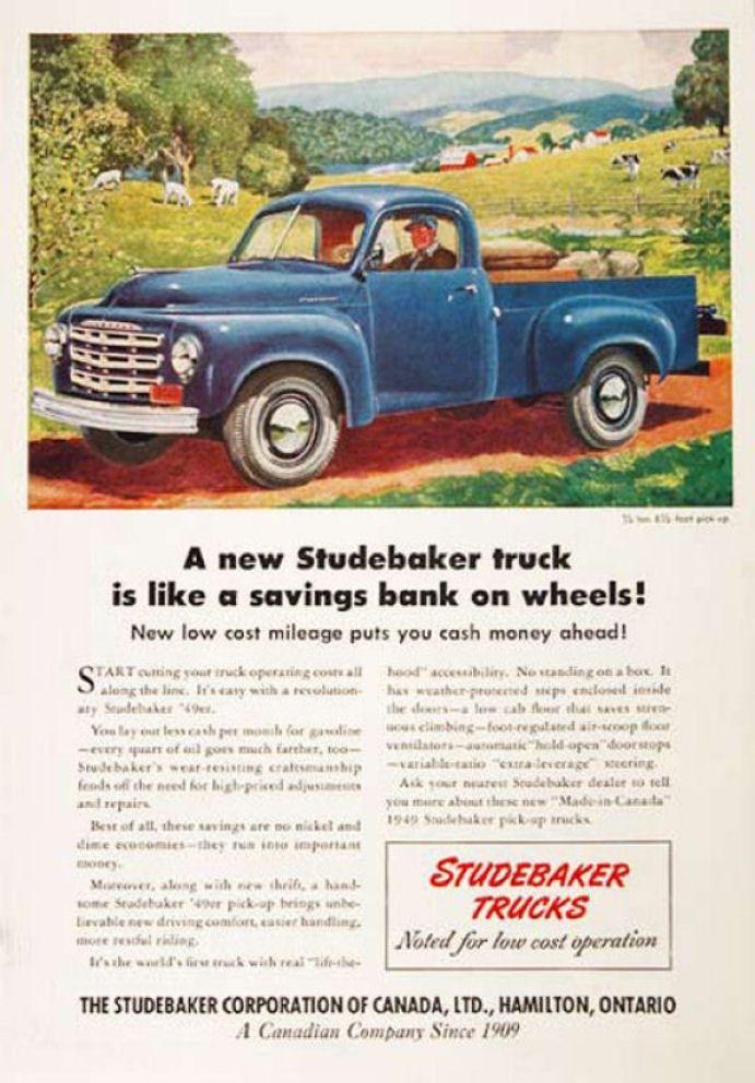 1949 Studebaker Truck Ad-16 | TRUCKS | Pinterest