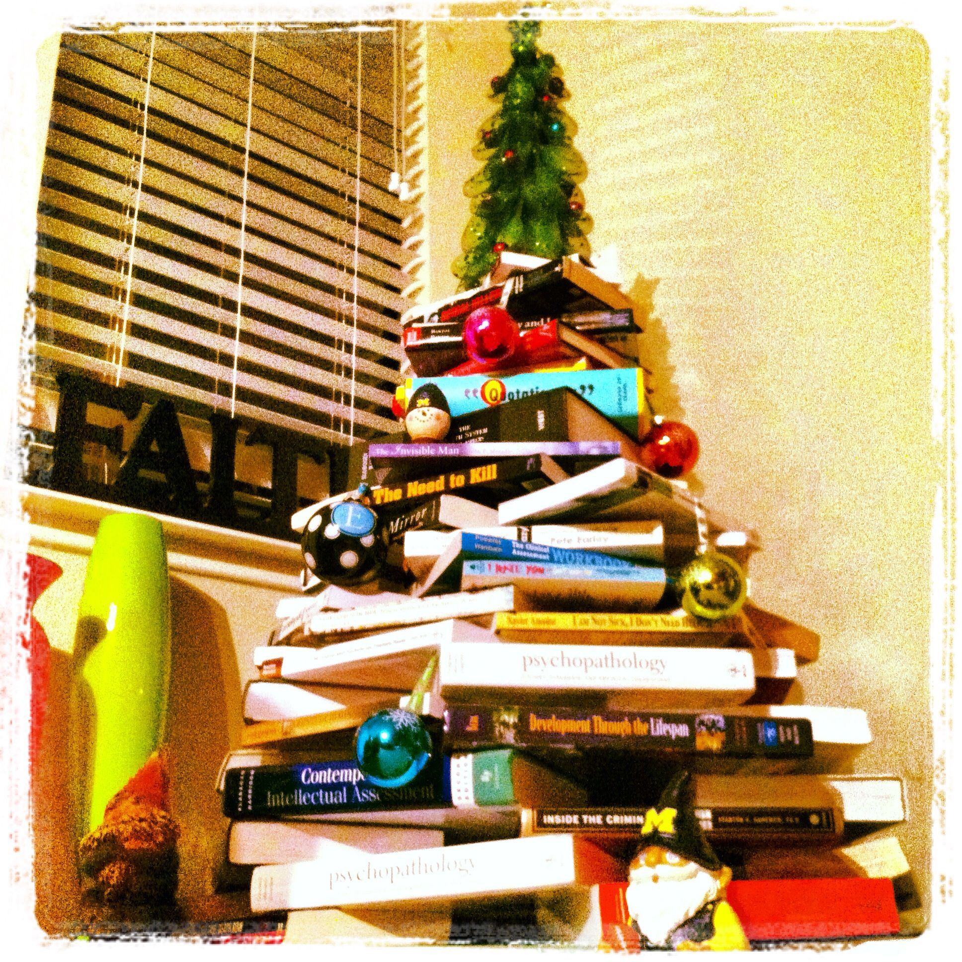 Grad School Book Christmas Tree )
