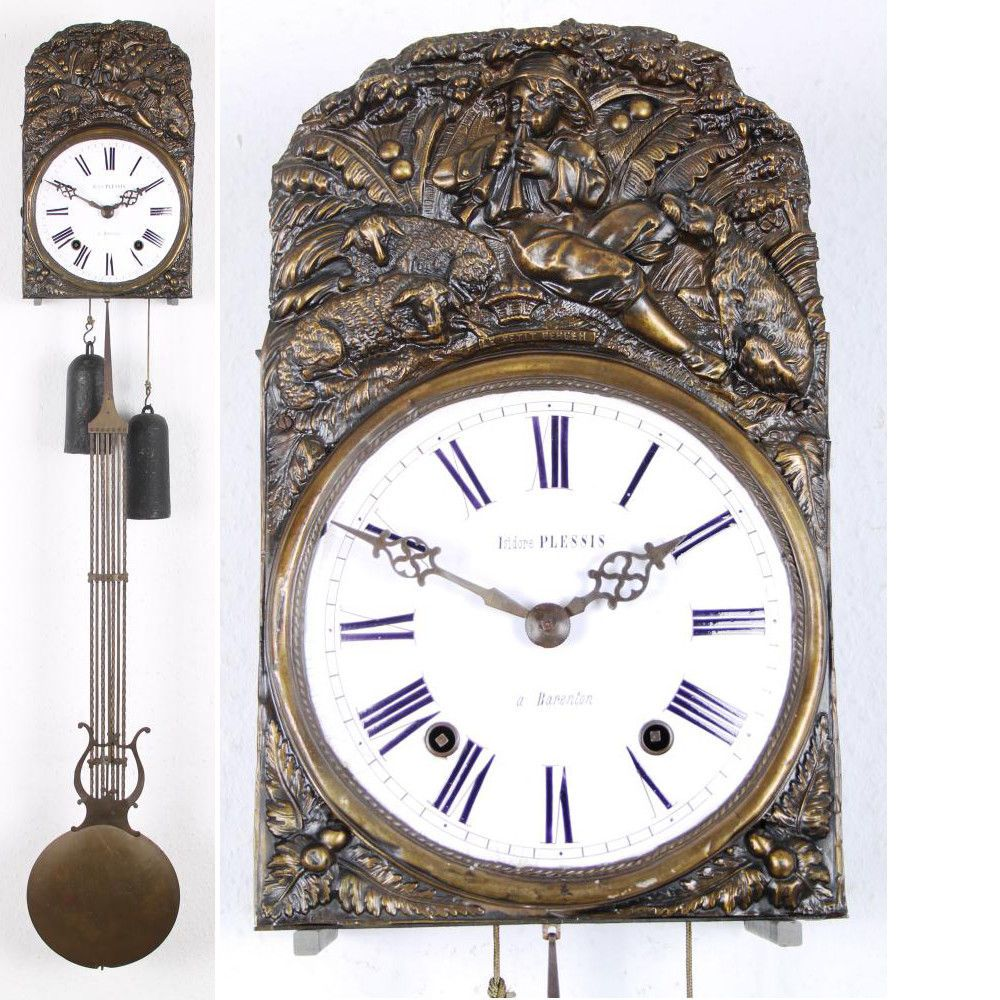 Große Franz Comtoise Burgunderuhr Mit Lyrapendel Großuhr Wanduhr Um 1870 Antiquitäten Kunst Mobiliar Interieur Uhren Ebay Klocka