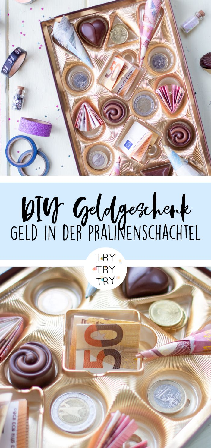 Photo of Mini DIY: Geldgeschenk in der Pralinenschachtel