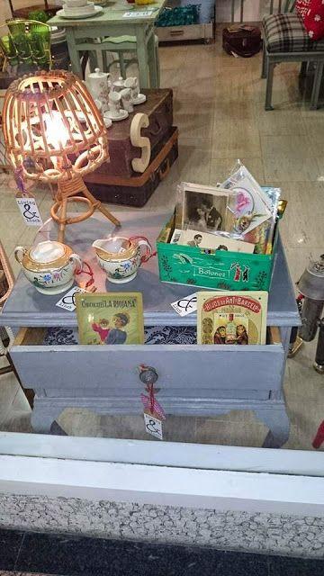 Muebles y objetos vintage reciclado de mobiliario vintage living lluch lamparita de ca a - Decoracion vintage reciclado ...