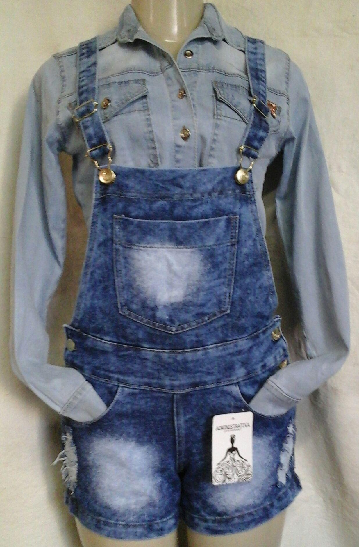 f8f80da4f Goiânia em Goiás | Jardineira Bermuda jeans | Overalls, Pants e Jackets